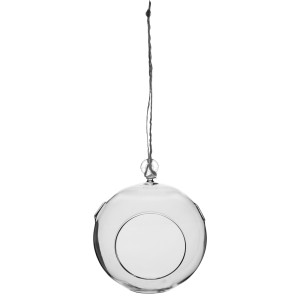 Syndicate Hanging Terrarium Round Crystal 6ea/7Inx7.875 in