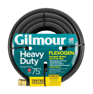 Gilmour Flexogen Premium Hose Heavy Duty Black 2ea/3/4Inx75 ft