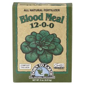 Down To Earth Blood Meal Natural Fertilizer 12-0-0 OMRI 12ea/Mini 0.5 lb