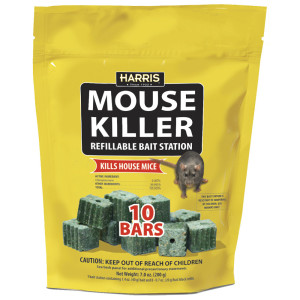 Harris Mouse Killer Refillable Bait Station 15ea/10Pk 7 oz