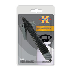 Hudson Large TOV™ Thumb Operated Valve Shut-off for Large Poly 3/8in Hose Black, Grey 1ea/5 In X 3 In X 1 in