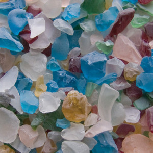 Panacea Gems Beach Glass Assorted Primary Colors Assorted 12ea/1 lb