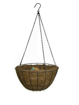 Panacea Growers Hanging Basket With Liner Green 12ea/14 in