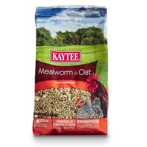 Kaytee Mealworm & Oat Poultry Supplement 6ea/3 lb