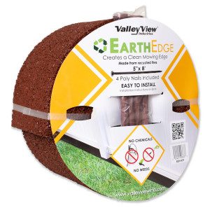 Valley View Earth Edge Rubber Edge And Poly Nails Red 4ea/5 In X 8 ft