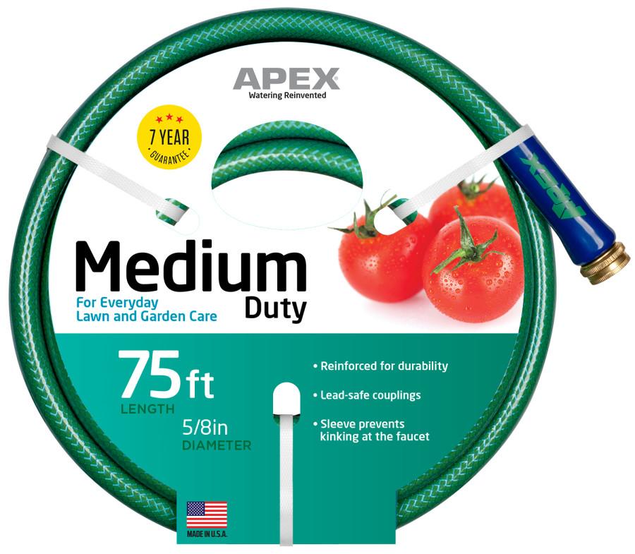 Teknor Medium Duty Hose Green 3ea/5/8Inx75 ft