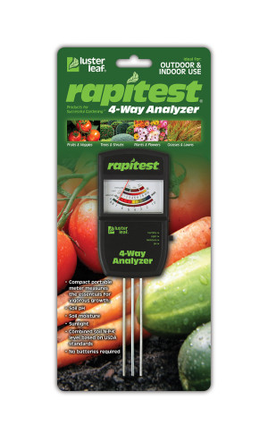Luster Leaf Rapitest Electronic 4-Way Analyzer Black 3ea/7.5 in