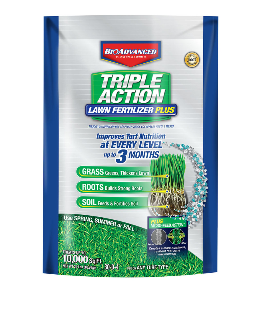 BioAdvanced Triple Action Lawn Fertilizer with Microfeed 1ea/10M