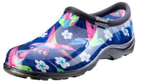 Sloggers Waterproof Comfort Shoe Hummingbird Blue Pink 1ea/Size 7
