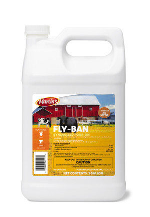 Control Solutions Fly Ban Synergized Pour-On Insecticide Concentrate 4ea/1 gal