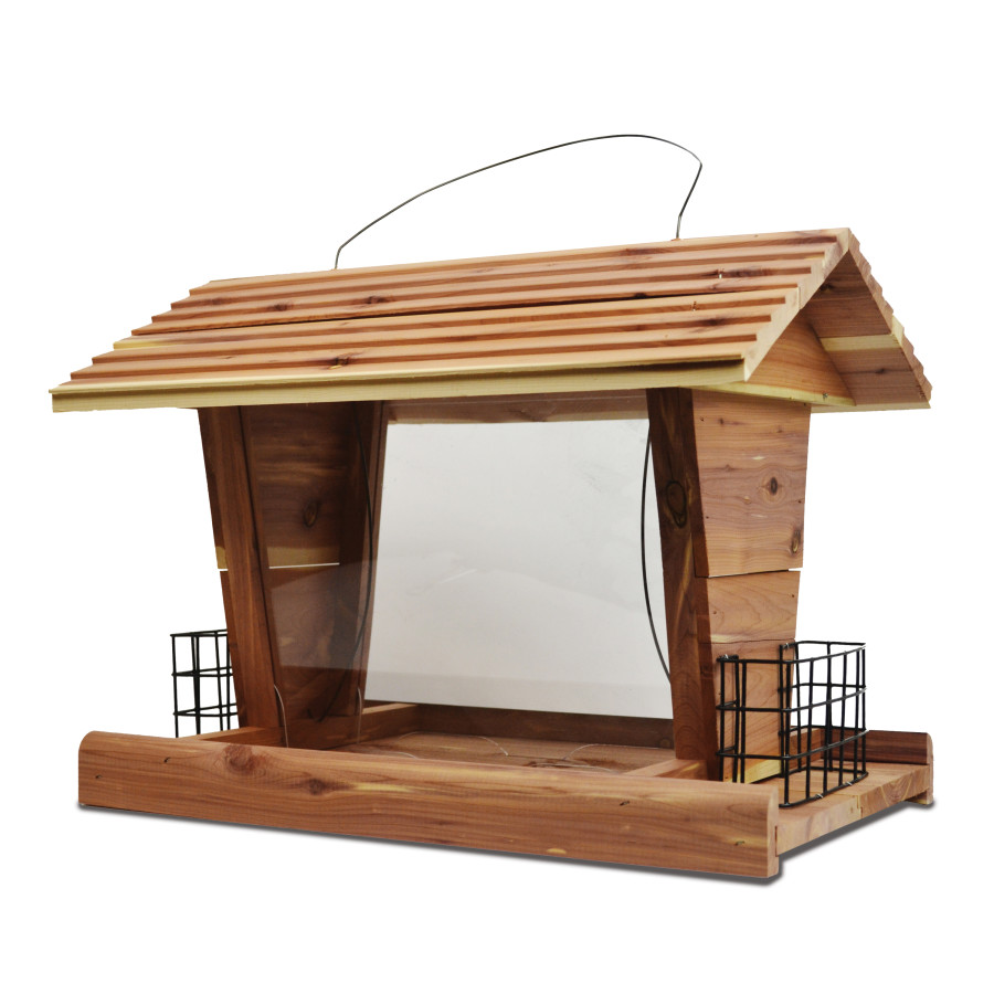 Pennington Cedar Grand Chalet Bird Feeder Brown 2ea