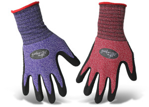 Boss Guardian Angel® Dotted Nitrile Palm Knit Wrist Glove Purple, Red 12ea/Medium