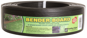 Valley View Bender Board Coil With Metal Stakes Black 4ea/4 In X 40 ft