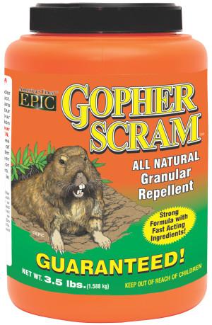 Enviro Gopher Scram Granular Repellent Shaker Canister 8ea/3.5 lb