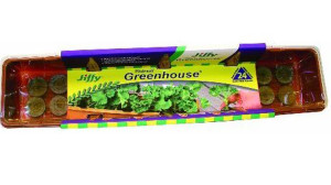 Jiffy Windowsill Greenhouse Grows 24 Plants Tray Brown 30ea