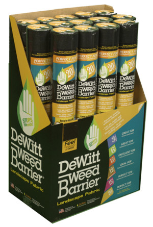 DeWitt 12-Year Weed-Barrier Landscape Fabric Black 18ea/3Ftx50 ft