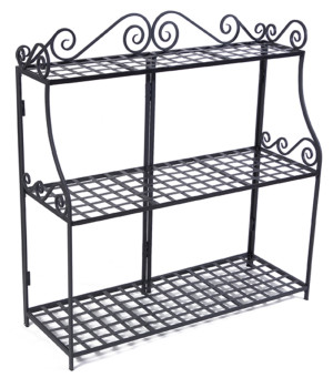 Panacea Forged 3-Tier Plant Stand Black 1ea/41Inx39 in