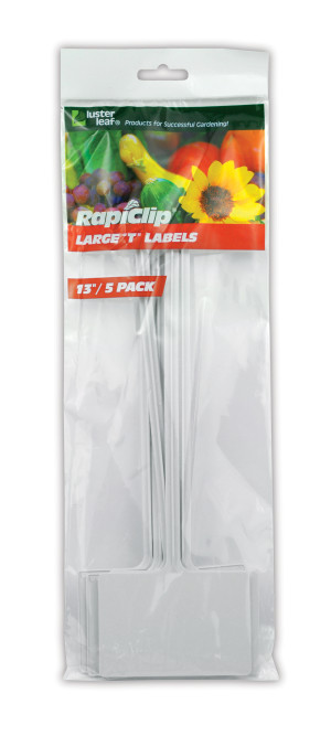 Luster Leaf Rapiclip Large T Labels White 12ea/5Pk 13 in
