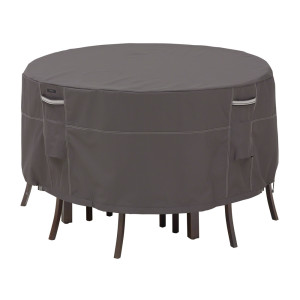 Classic Accessories Ravenna Patio Table & Chair Set Cover Taupe 2ea/Tall One Size