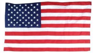 Flag Zone Nylon United States Flag in Poly Bag 6ea/2-1/2Ftx4 ft