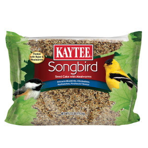 Kaytee Songbird Seed Cake with Mealworms 6ea/2.5 lb