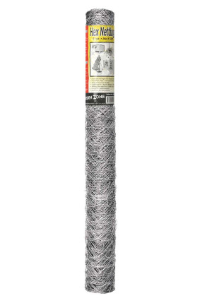 Garden Zone 20-gauge Galvanized Hex Netting Silver 6ea/36Inx50 ft