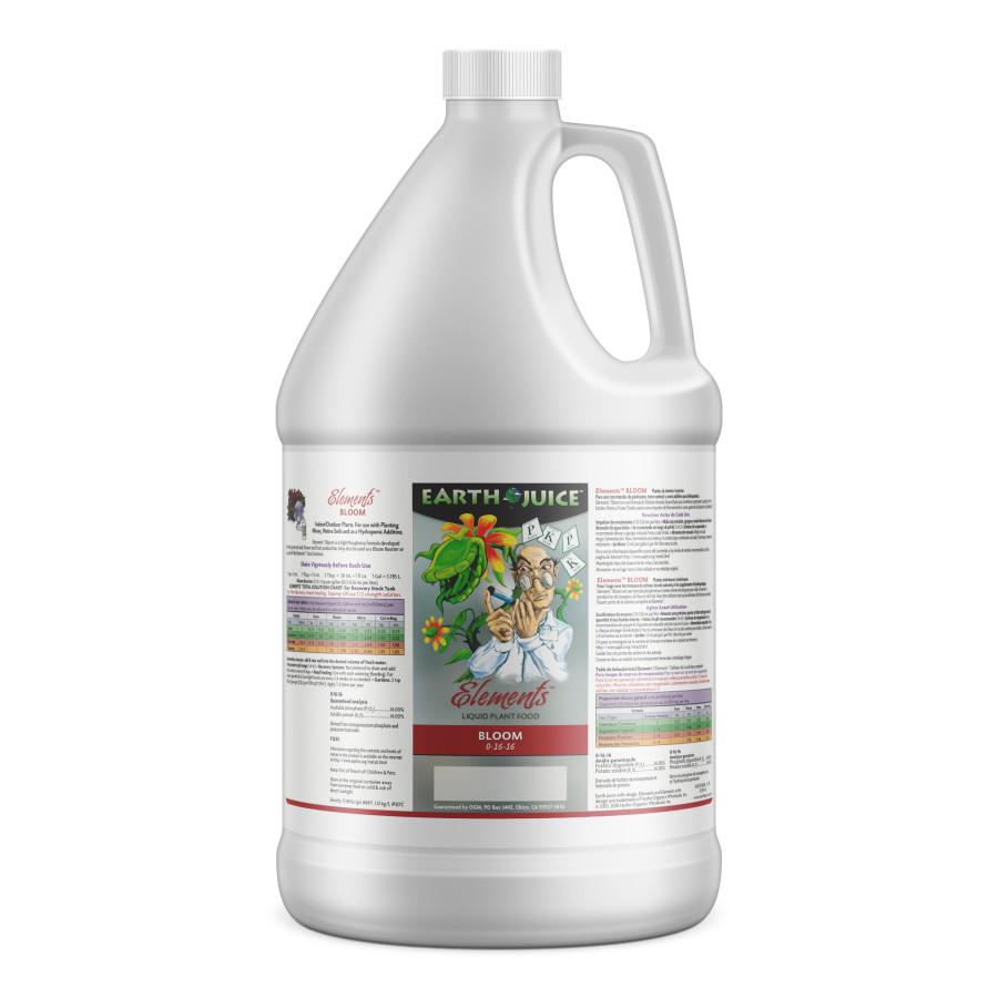 Earth Juice Elements Bloom Liquid Plant Food 0-16-16 4ea/1 gal