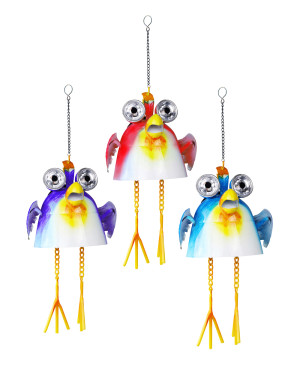 Alpine Hanging Solar Birds 8ea