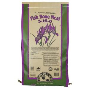 Down To Earth Fish Bone Meal Natural Fertilizer 3-16-0 1ea/50 lb