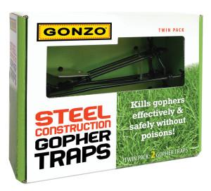 Gonzo Steel Contruction Gopher Traps Black 12ea/2 pk