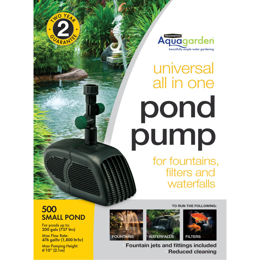 Pennington Aquagarden Universal All-in-One Pond Pump GPH 2ea/500 GPH