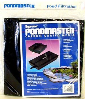 Danner Pondmaster Replacement Pads Filter Media Carbon Black 6ea/12 In. X 12 in