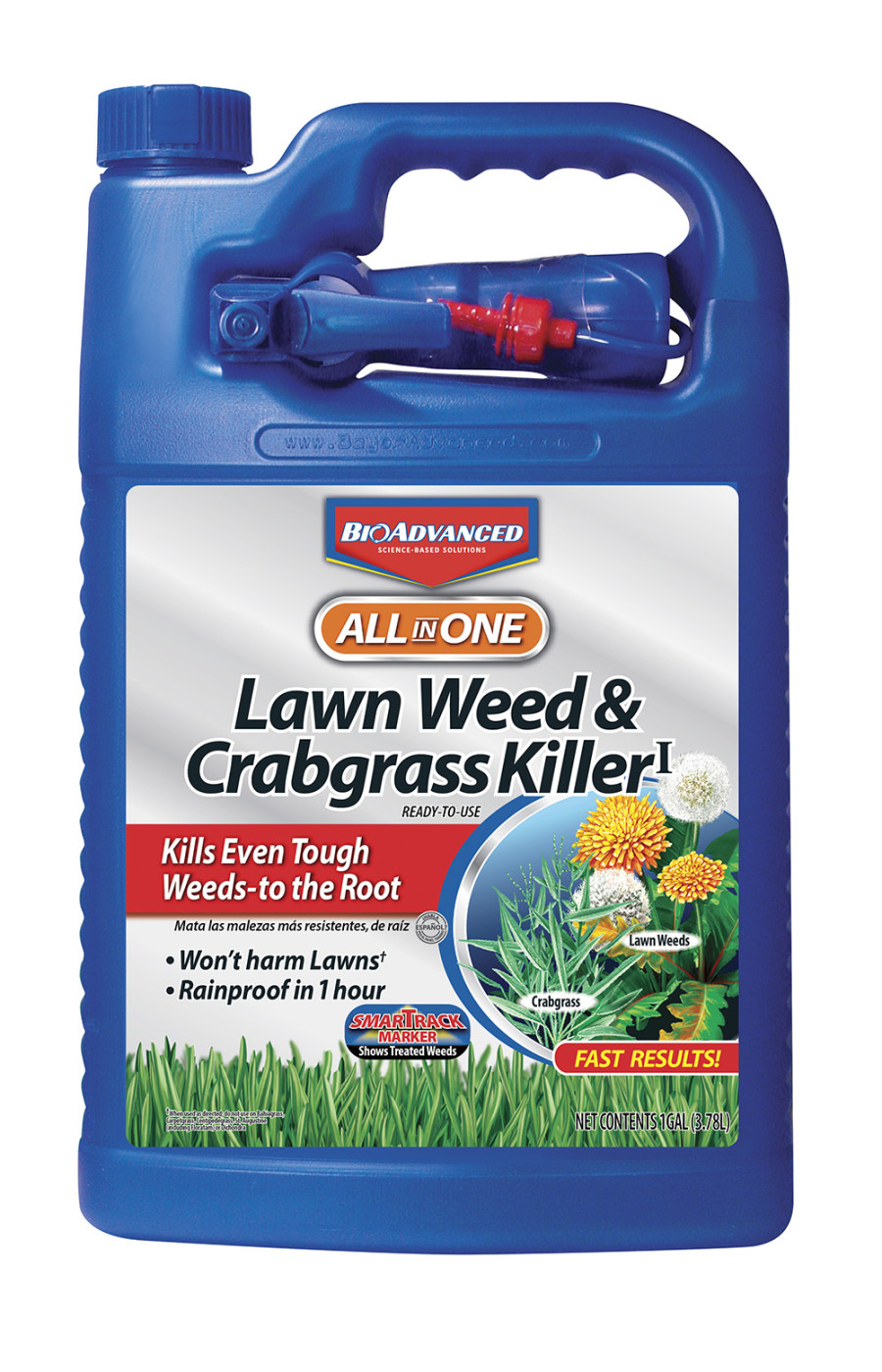 BioAdvanced All In One Lawn Weed & Crabgrass Killer Ready to Use 4ea/1 gal