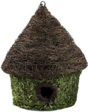 Supermoss Bungalow Woven Birdhouse Fresh Green 6ea/9.5Inx10.5 in