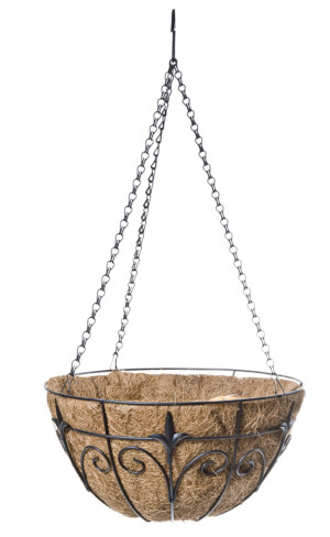 Panacea Classic Finial Hanging Basket Black 6ea/14 in