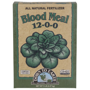 Down To Earth Blood Meal Natural Fertilizer 12-0-0 OMRI 6ea/5 lb