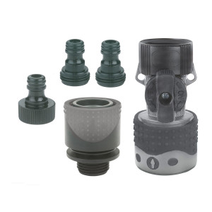 Gilmour Light Duty Quick Connector Starter Kit Hose & Faucet Shut-off Valve Grey 12ea/1.5 In X 5.2 In X 7.9 in