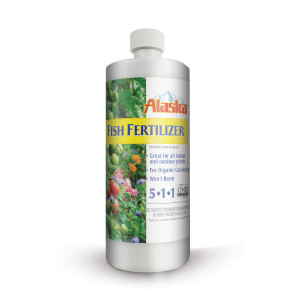 Alaska Fish Emulsion Fertilizer All Purpose 5-1-1 12ea/32 oz