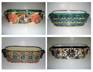 Talavera Window Boxes Florentino Peacock Primavera & Violeta 4ea/13 in