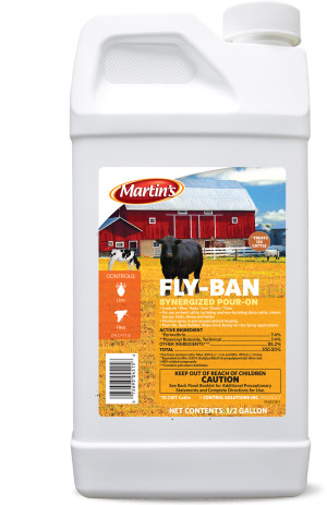 Control Solutions Fly Ban Synergized Pour-On Insecticide Concentrate 6ea/1/2 gal