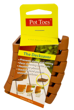 Plant Stand Pot Toes The Decksaver Terra Cotta Clip Strip 24ea/6 pk