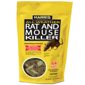 Harris All Weather Rat & Mouse Killer 4ea/64Pk 4 lb