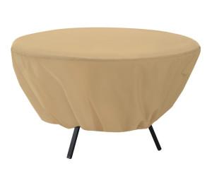 Classic Accessories Terrazzo Patio Cover Table Round Sand 6ea/50 in