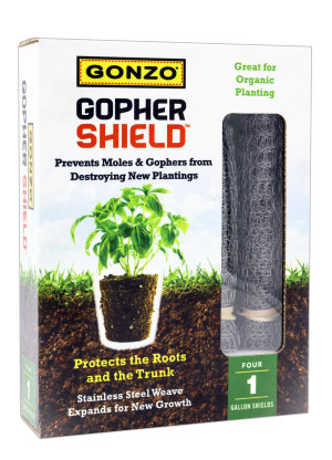Gonzo Gopher Shield for Moles, Gophers & Voles Steel Silver 6ea/4Pk 12Inx8In 1 gal