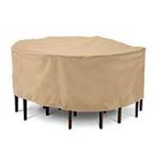 Classic Accessories Terrazzo Table & Chair Set Cover Round Sand 2ea/Large