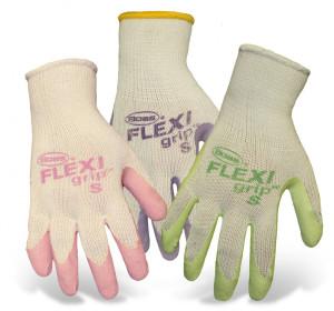 Boss Flexi Grip Latex Palm String Knit Glove Ladies Green Pink Purple 12ea/Small