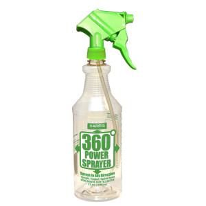Harris 360 Upside Down Power Sprayer Bottle Display Clear, Green 108ea
