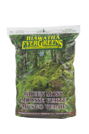 Hiawatha Evergreens Green Decorator Moss in Resealable Bags Green 6ea/820Cuin