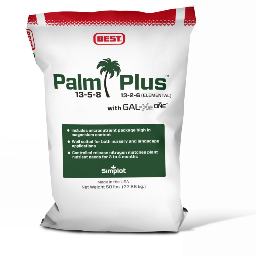 Best Palm Plus Fertilizer 13-5-8 with GAL-XeONE 1ea/50 lb