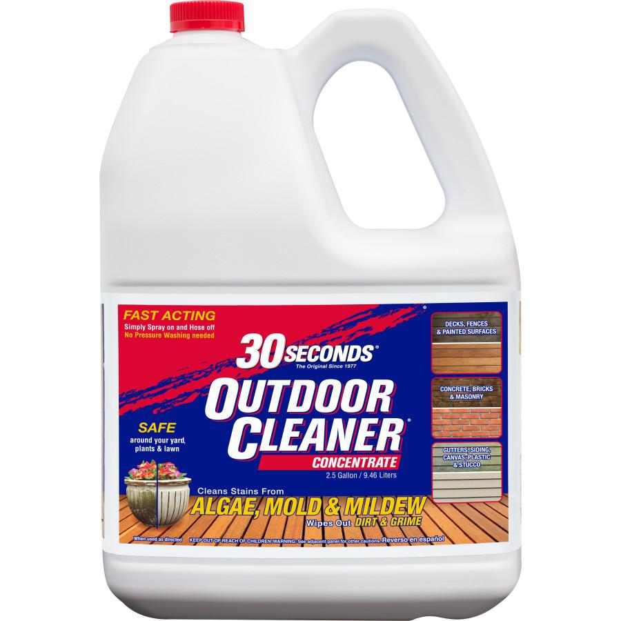 30 Seconds Outdoor Cleaner Algae Mold & Mildew Concentrate Pallet Quarter Display 18ea/2.5 gal